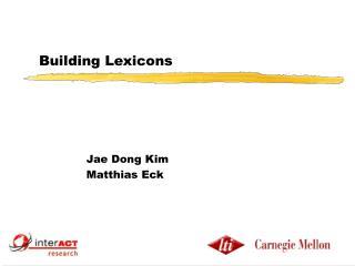 Building Lexicons