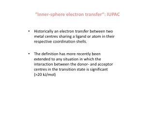 """Inner- sphere electron transfer "": IUPAC"