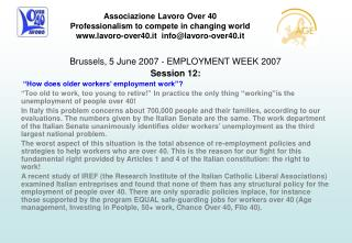 Brussels, 5 June 2007 - EMPLOYMENT WEEK 2007 Session 12: