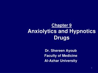 Chapter 9 Anxiolytics and Hypnotics Drugs
