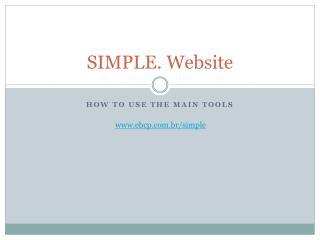 SIMPLE. Website