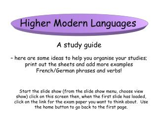 Higher Modern Languages