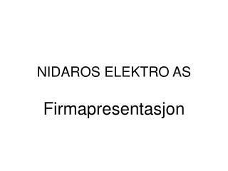 NIDAROS ELEKTRO AS
