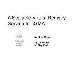 A Scalable Virtual Registry Service for jGMA