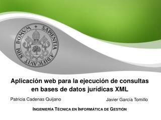 Aplicación web para la ejecución de consultas en bases de datos jurídicas XML