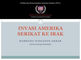 INVASI AMERIKA SERIKAT KE IRAK