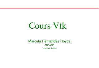 Cours Vtk