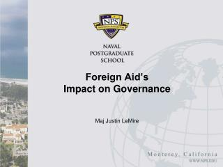 Foreign Aid�s Impact on Governance