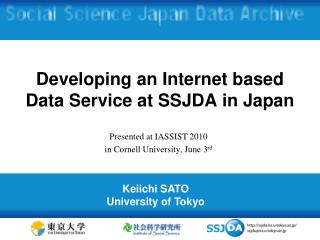 Developing an Internet based Data Service at SSJDA in Japan