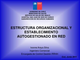 ESTRUCTURA ORGANIZACIONAL Y ESTABLECIMIENTO AUTOGESTIONADO EN RED
