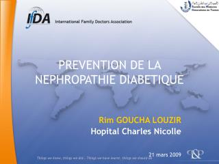PREVENTION DE LA NEPHROPATHIE DIABETIQUE