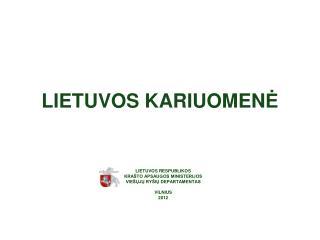 LIETUVOS KARIUOMEN Ė