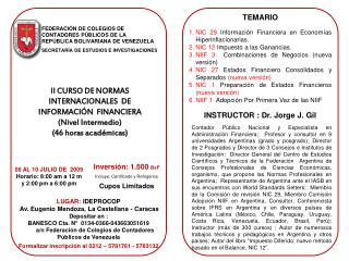 FEDERACI�N DE COLEGIOS DE CONTADORES P�BLICOS DE LA REP�BLICA BOLIVARIANA DE VENEZUELA