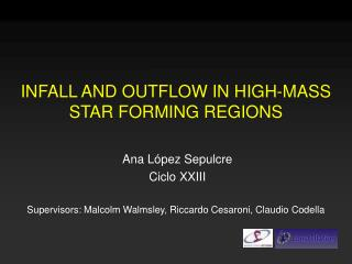 INFALL AND OUTFLOW IN HIGH-MASS STAR FORMING REGIONS