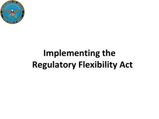 Implementing the  Regulatory Flexibility Act