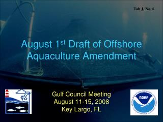 August 1 st  Draft of Offshore Aquaculture Amendment