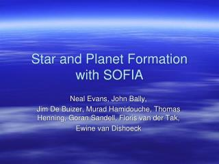 Star and Planet Formation with SOFIA