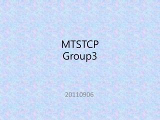 MTSTCP Group3