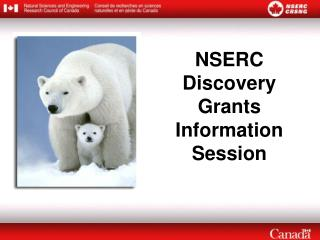NSERC Discovery Grants Information Session
