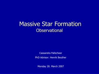 Massive Star Formation
