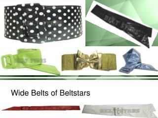 Wide Belts of Beltstars