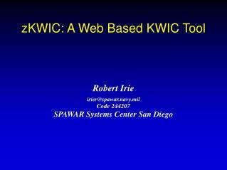 zKWIC: A Web Based KWIC Tool