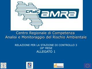 Centro Regionale di Competenza  Analisi e Monitoraggio del Rischio Ambientale
