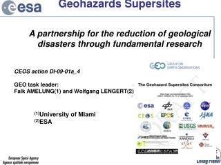 Geohazards Supersites