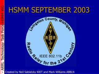 HSMM SEPTEMBER 2003