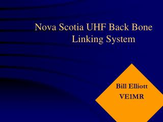 Nova Scotia UHF Back Bone         Linking System