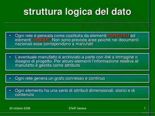 struttura logica del dato