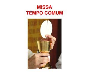 MISSA  TEMPO COMUM