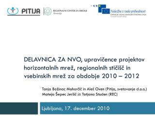 Ljubljana, 17. december 2010