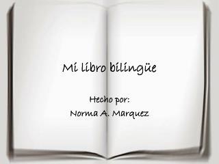 Mi libro bilingüe