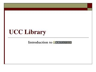 UCC Library