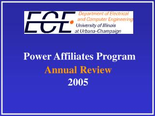 Power Affiliates Program Annual Review 2005