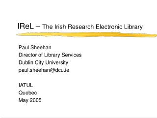 IReL –  The Irish Research Electronic Library
