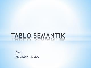 TABLO SEMANTIK
