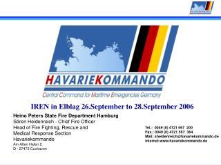 Heino Peters State Fire Department Hamburg Sören Heidenreich - Chief Fire Officer