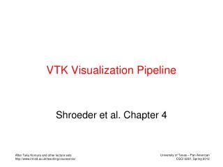 VTK Visualization Pipeline