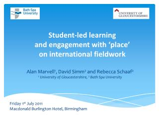 Student-led learning  and engagement with 'place'  on international fieldwork