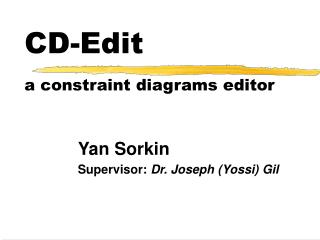 CD-Edit a constraint diagrams editor