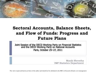 Sectoral Accounts, Balance Sheets, and Flow of Funds: Progress and Future Plans