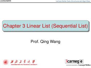 Prof. Qing Wang