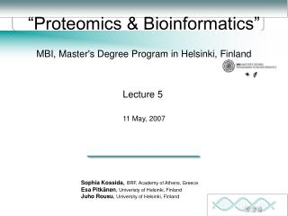 Proteomics  Bioinformatics