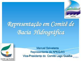 Representação em Comitê de Bacia  Hidrográfica