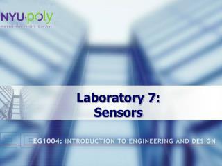 Laboratory 7:  Sensors