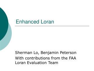 Enhanced Loran