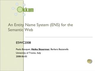 An Entity Name System (ENS) for the Semantic Web