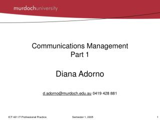 Communications Management Part 1